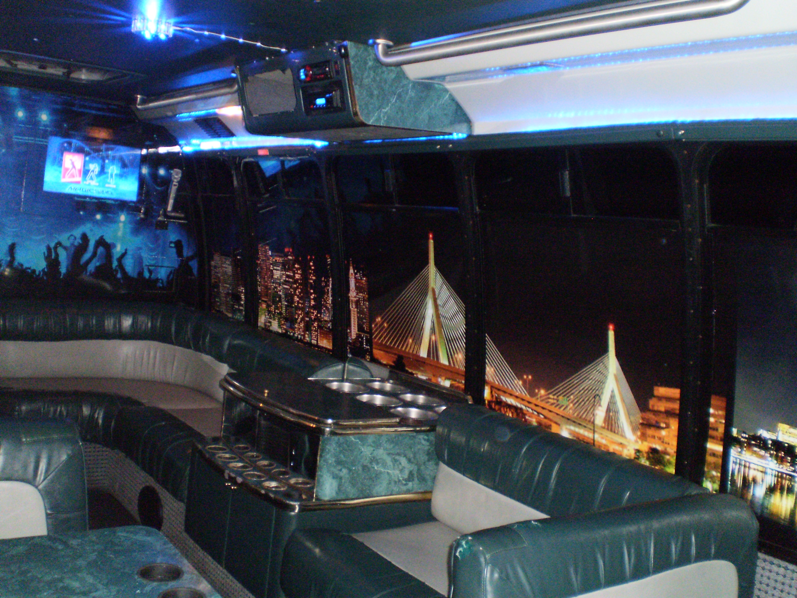 Passenger Limo Coach - Inside View