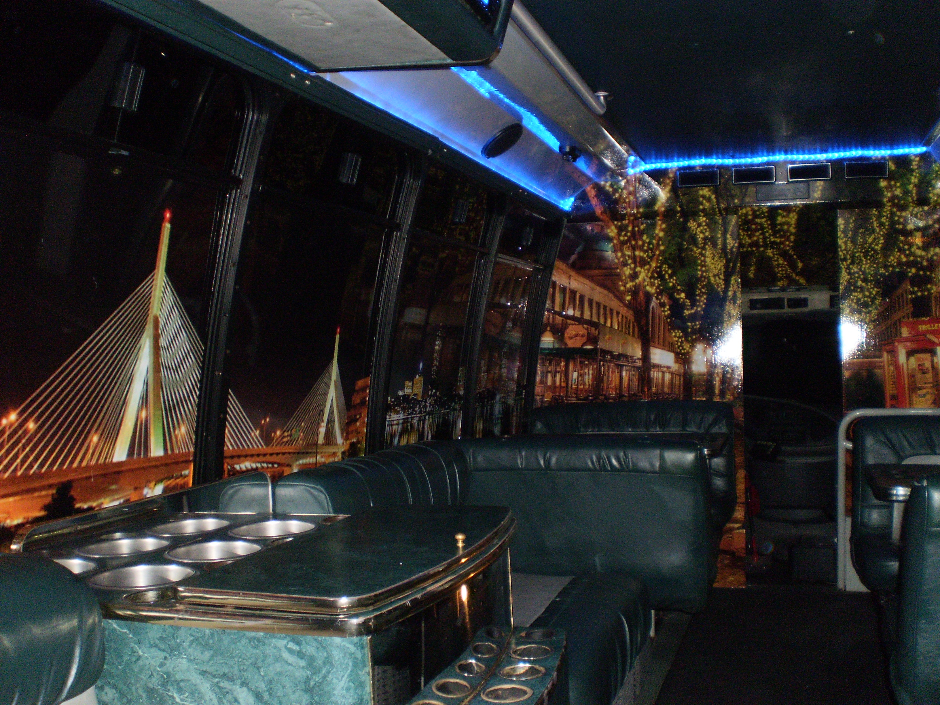 Inside Passenger Party Bus